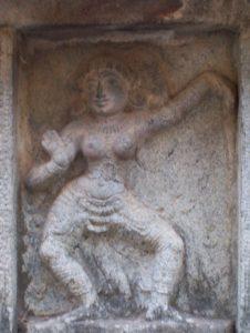 bharata natyam - temple de Chidambaram - posture de Krisna